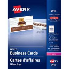 Cartes professionnelles Paquet de 2500 blanc