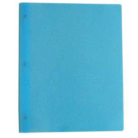 Couverture de présentation à trois attaches Poly Tang bleu clair