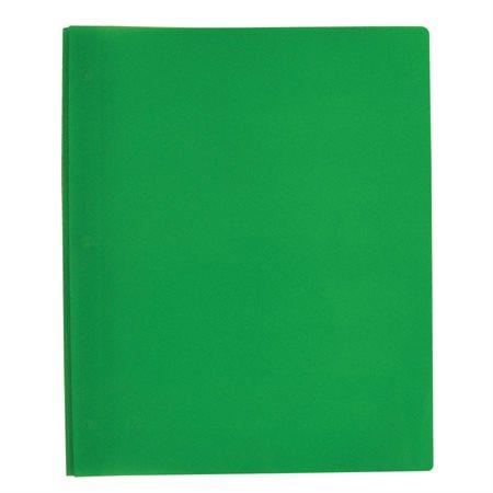 Couverture de présentation à trois attaches Poly Tang vert clair