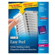 """Étiquettes d'adresse blanches laser Easy Peel® Boîte de 100 feuilles 1-3/4 x 1/2""""  (8000)"""