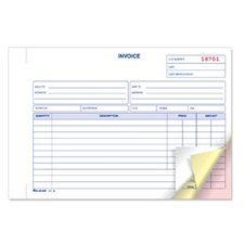 Livret de factures 5-3 / 8 x 8 po. triplicata (anglais)
