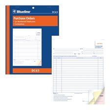 Formulaires d'achat 8-1/2 x 11 po triplicata (anglais)