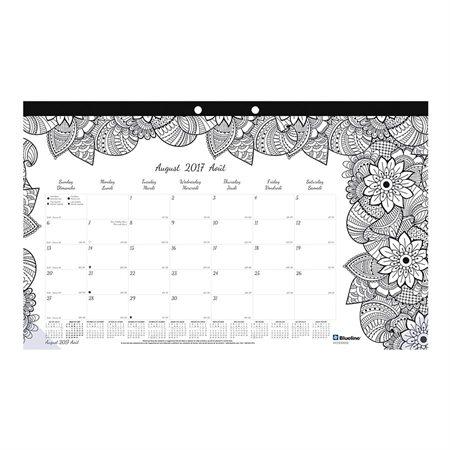 Sous-mains à colorier académique mensuel Doodleplan™ botanique