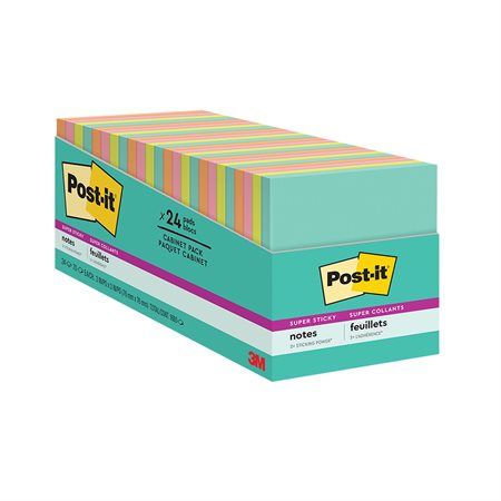 Post-it® Super Sticky Notes - Miami Collection