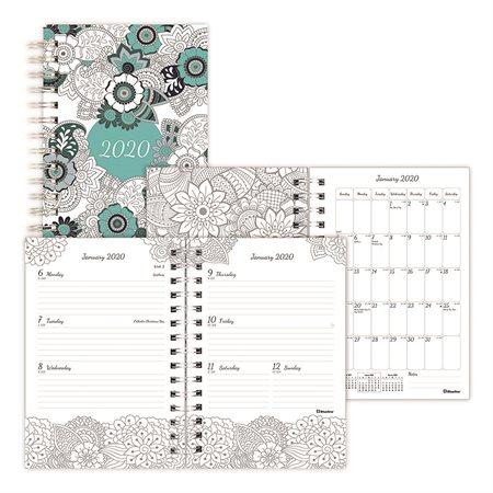 Agenda à colorier hebdomadaire / mensuel (2020)