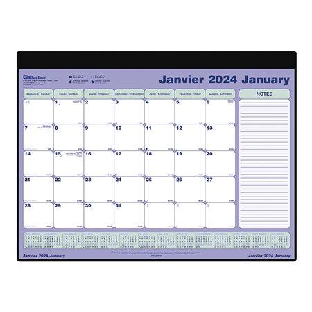 Calendrier sous-main mensuel (2020) Recharge 23-1 / 2 x 18-3 / 8 po.
