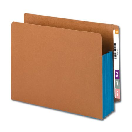 Pochette de classement latéral avec gousset de couleur