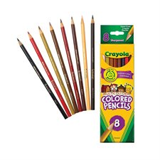 Crayola® Wood  Colouring Pencils Box of 8 - multicultural colours