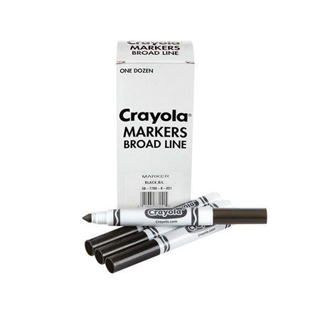 Black Broad Line Marker