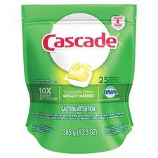 Détergent lave-vaiselle Cascade 2-in-1 Action Pacs® Paquet de 25 citron