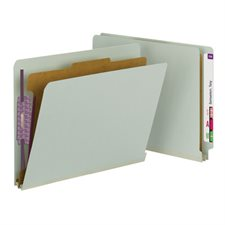 End Tab File Folders with SafeSHIELD® Coated Fastener Techno