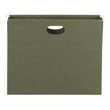 Pochettes suspendues 100 % recyclées pleine hauteur Vert standard format lettre (10)