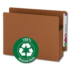 100% Recycled End Tab Redrope File Pocket