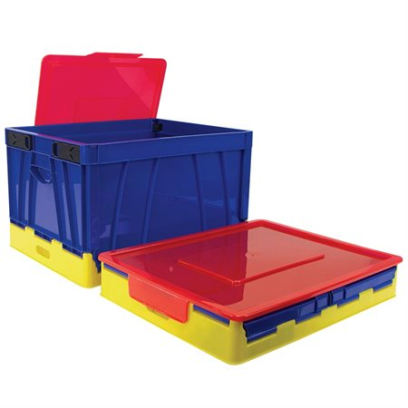 Folding Storage Crate with Cover