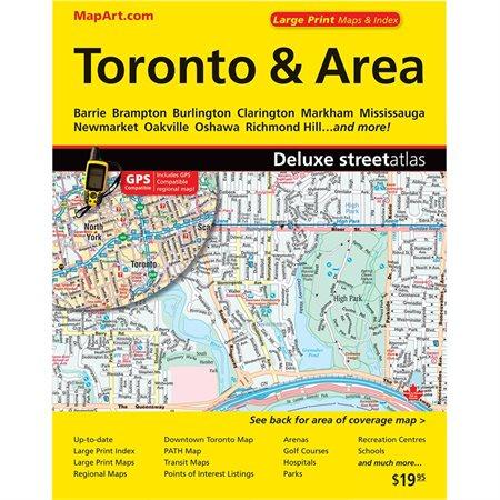 Cartes routières Toronto et environs