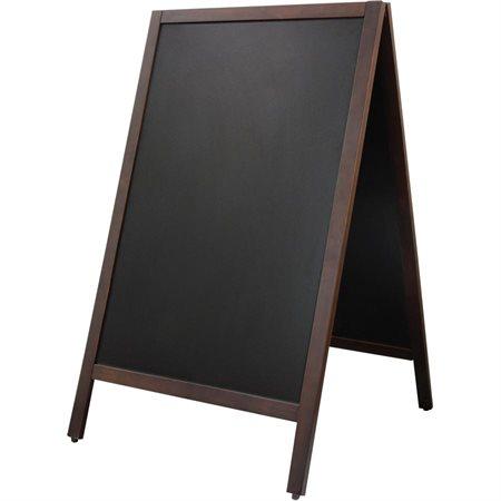 Tableau noir sur chevalet à deux faces