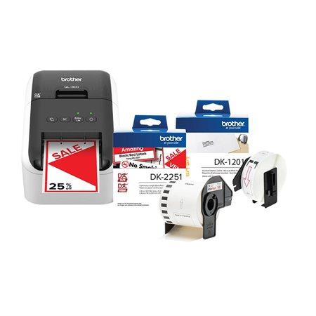 Ensemble d'imprimante à étiquettes QL-800 et étiquettes