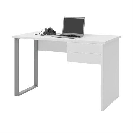Bureau d'ordinateur Solay blanc