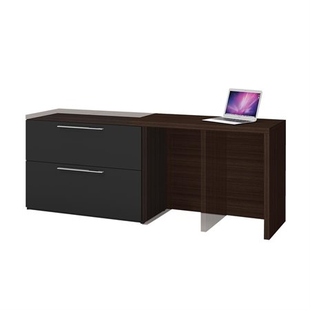 Poste de travail compact Small Space chocolat / noir