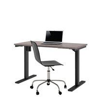 """Table d'ordinateur réglable 24 x 48"""" gris écorce"""