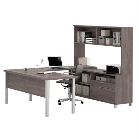 Pro-Linea U-Shaped Workstation with Hutch