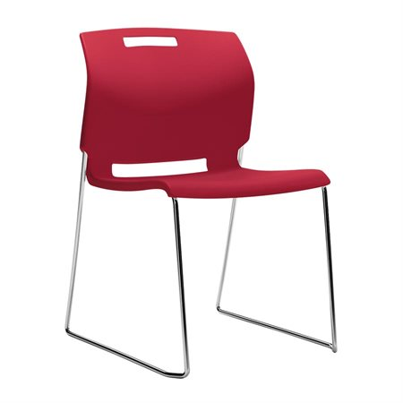 Fauteuil empilable Popcorn rouge