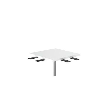 TABLE COIN CARRÉ L2 BLANC