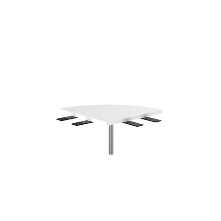 TABLE COIN ARRONDI L2 BLANC