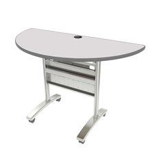 """Table de conférence Tucana Dessus en demi-cercle, 48 x 24"""" gris"""