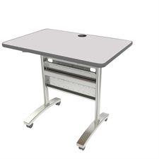 """Table de conférence Tucana Dessus de table rectangulaire, 36 x 24"""" gris"""
