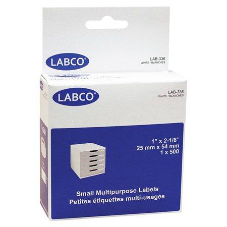 """Étiquettes compatibles pour imprimante à étiquettes Usages multiples 1 x 2-1 / 8"""" (500)"""