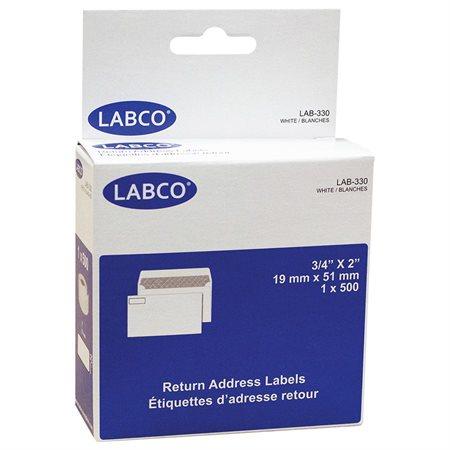 """Étiquettes compatibles pour imprimante à étiquettes Adresse retour 3 / 4 x 2"""" (500)"""