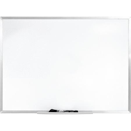 Tableau blanc économique effaçable à sec avec cadre aluminium 96 x 48 po