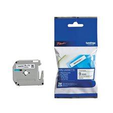 Ruban d'impression M/MK 12 mm bleu sur blanc