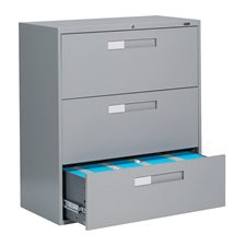 Classeurs latéraux Fileworks® 9300 3 tiroirs gris