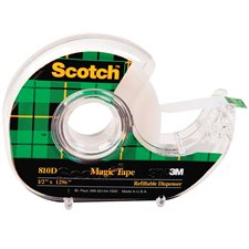 Ruban adhésif Scotch® Magic™ Dévidoir 12 mm x 33 m