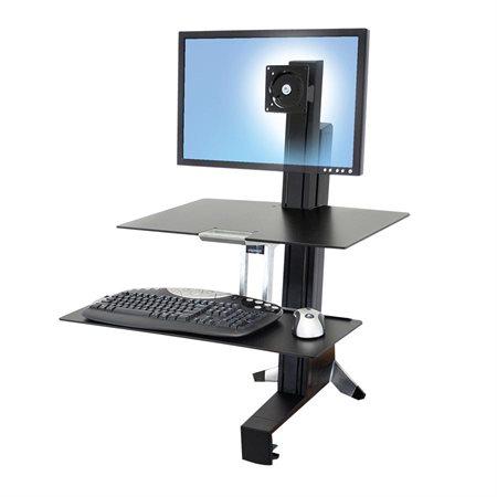 """Surface de travail assis-debout WorkFit-S pour écran unique HD - Pour moniteur jusqu'à 30"""""""