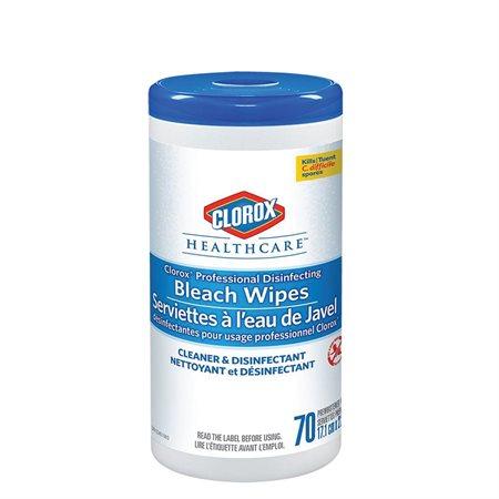 Serviettes désinfectantes à l'eau de Javel pour usage professionnel de Clorox Healthcare™ En contenant distributeur pqt 70