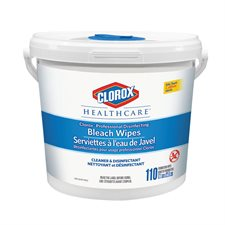 Healthcare™ Professional Disinfecting Bleach Wipes Dispenser tub pkg 110