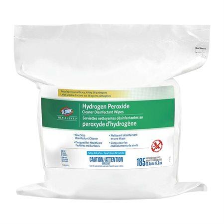 Serviettes nettoyantes désinfectantes au peroxyde d'hydrogène Healthcare™ Recharge bte 185