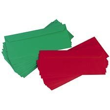 Enveloppes de Noël rouge