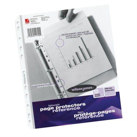 Pochette protectrice en polypropylène Boîte de 50 pqt 10