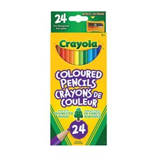Crayola® Wood  Colouring Pencils Box of 24 with sharpener
