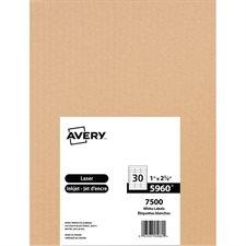 """Étiquettes d'adresse blanches laser Easy Peel® Boîte de 250 feuilles 2-5/8"""" x 1"""" (7500)"""