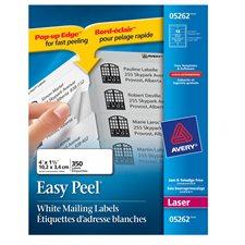 """Étiquettes d'adresse blanches laser Easy Peel® Paquet de 25 feuilles 4 x 1-1/3"""" (350)"""