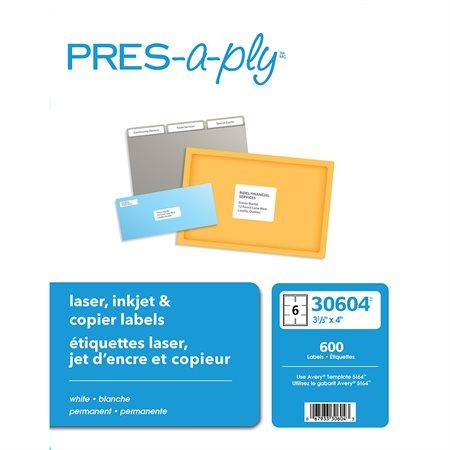 Étiquettes pour imprimante laser, jet d'encre et copieurs