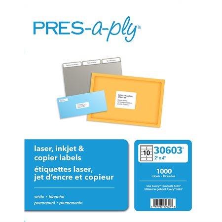 """Étiquettes pour imprimante laser 4 x 2"""" (1000)"""