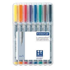 Lumocolor® Non Permanent Marker Super fine tip, 0.4 mm. assorted (pkg 8)