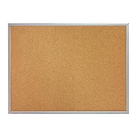 Tableau d'affichage en liège cadre aluminium 48 x 36 po