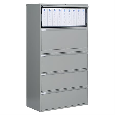 Fileworks® 9300 Plus Lateral Filing Cabinets 5 drawers grey